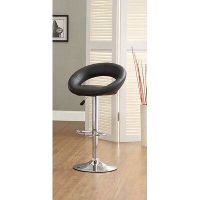 Hokku Designs Theory Leatherette Adjustable Bar Stool