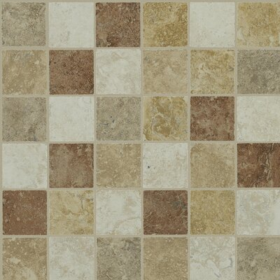 "Shaw Floors Piazza 13"" x 13"" Mosaic Tile Accent in Multi-color"