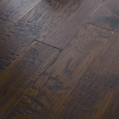 "Shaw Floors Panorama 6-3/8"" Engineered Handscraped Hickory Flooring in Evening Glow"