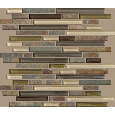 "Shaw Floors Mixed Up 12"" x 12"" Random Linear Mosaic Slate Accent Tile in Spring Valley"