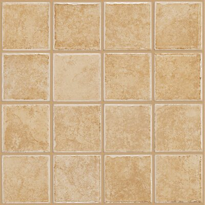 "Shaw Floors Colonnade 12"" x 12"" Ceramic Floor Tile in Gold"