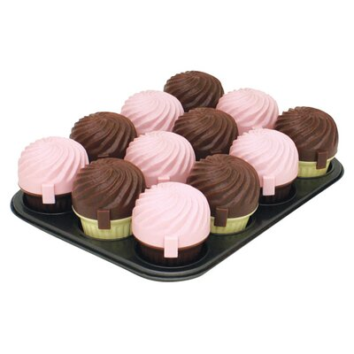 12 Cup Muffin Pan with 12 Cupcase