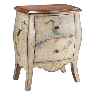 Stein World Painted Treasures 2 Drawer Accent Chest