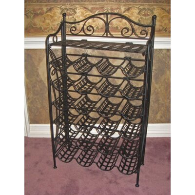 International Caravan Iron Patio 24 Bottle Wine Rack