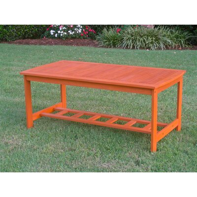 International Caravan Hannon Outdoor Patio Two-Tier Wood Coffee Table