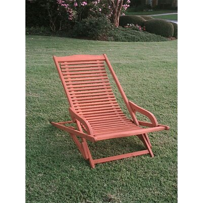 International Caravan Oslo Outdoor Contemporary Folding Patio Lounge Chair