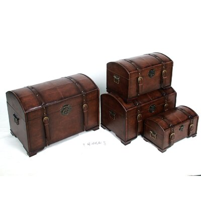 International Caravan Seville Indoor Trunks (Set of 4)