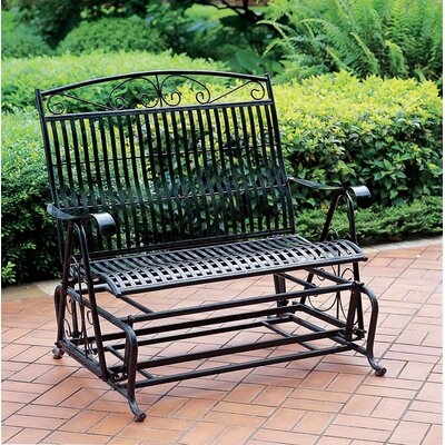 International Caravan Outdoor Double Patio Glider