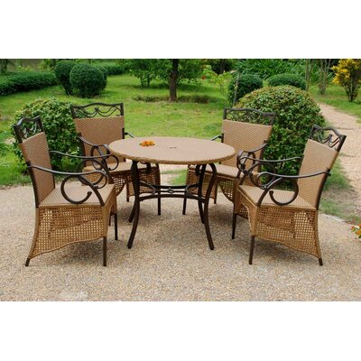 International Caravan Valencia 5 Piece Dining Set
