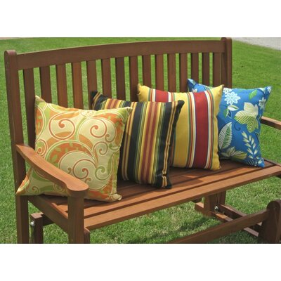 Blazing Needles Mix Pattern Outdoor Throw Pillow (Set of 2)