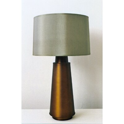 Babette Holland Tower Table Lamp with Silk Shade