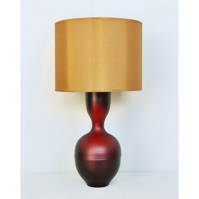 Ruby Table Lamp in Raku Fade with Gold Shade
