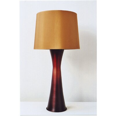 Skyscraper Table Lamp in Raku Fade with Gold Shade