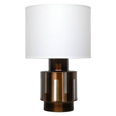 Babette Holland Michelle Table Lamp with White Linen Shade in Adobe Shadow