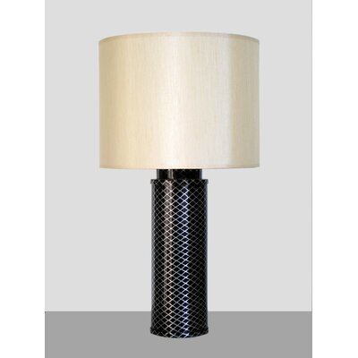 Babette Holland Midnight Matrix Table Lamp with Pebble Shade in Black and Silver