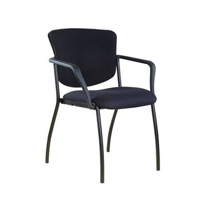 Via Seating Camden Fully Upholstered Stack Chair with Tapered Back