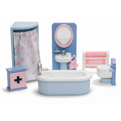 Le Toy Van Rosebud Doll House Bathroom Set