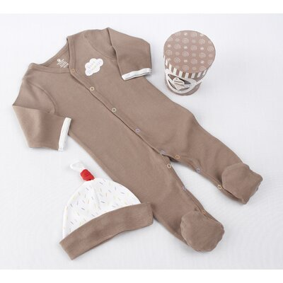 "Baby Aspen ""Sweet Dreamzzz"" A Pint of PJ's Sleep-Time Gift Set in Chocolate"