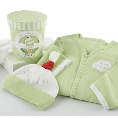 "Baby Aspen ""Sweet Dreamzzz"" A Pint of PJ's Sleep-Time Gift Set in Lime"