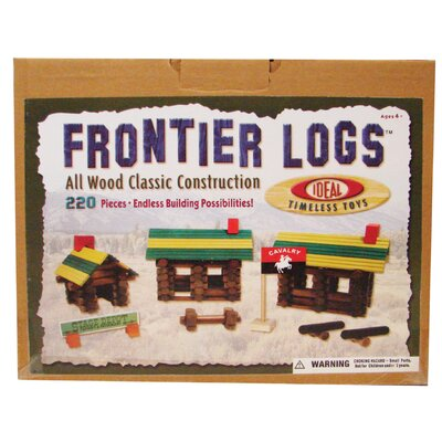Ideal Classics Wood Construction 220 pieces Frontier Logs in Canister