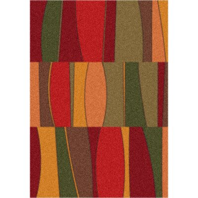 Milliken Modern Times Sinclair Tapestry Red Rug
