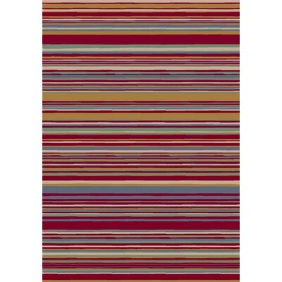Milliken Innovation Lola Ruby Striped Rug