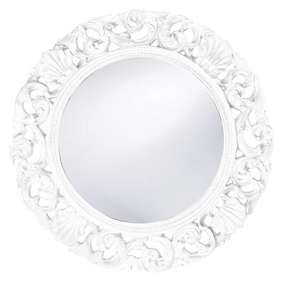 Glendale Round Wall Mirror in White