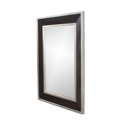Bowen Mirror in Rich Two Tone Black