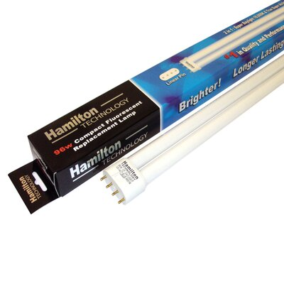 96W Compact FL 50/50 Aquarium Lamp in White