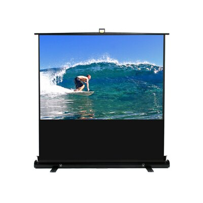 "Elite Screens MaxWhite ezCinema Plus Series Floor Stand Scissor Pull Up Projector Screen - 74"" Diagonal"