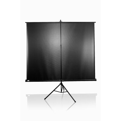 "Elite Screens Tripod Pro Portable MaxWhite 99"" Projection Screen in Black Case"