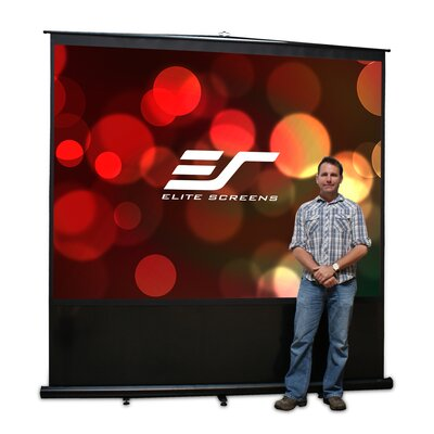 Elite Screens Floor Mount Electric Projection Screen