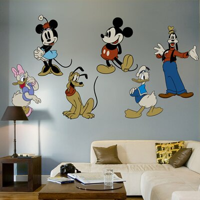 Classic Mickey Mouse and Friends Wall Graphic