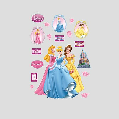 Fathead Aurora, Cinderella and Belle Wall Graphic