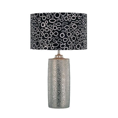 Lite Source Silvio Ceramic Table Lamp in Silver