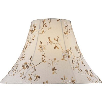 Lite Source Jacquard Bell Lamp Shade in Cream