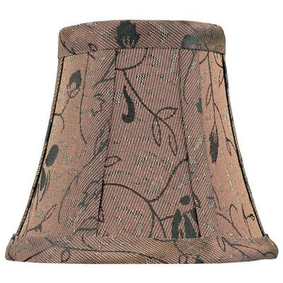 Candelabra Lamp Shade in Brown Jacquard