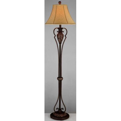 "Lite Source 62.75"" x 16"" Floor Lamp in Dark Bronze"