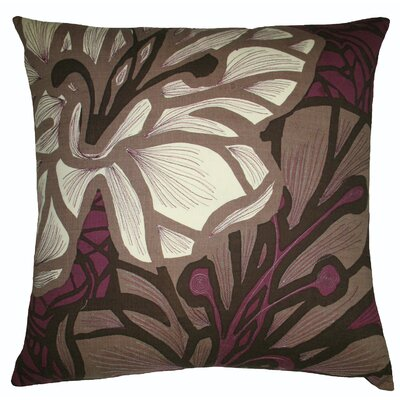 Koko Company Flora 20 x 20 Pillow in Brown/Eggplant