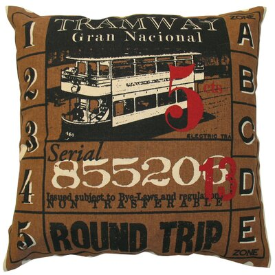 Koko Company Ticket Pillow in Brown