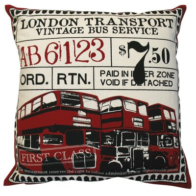 Koko Company Ticket Pillow in Red