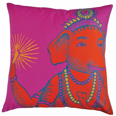 "Koko Company Bazaar 22"" x 22"" Pillow in Fuchsia"