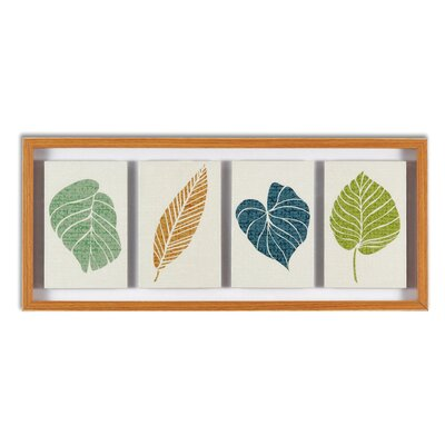 "Graham & Brown Floating Leaves Framed Print Art - 12"" X 28"""