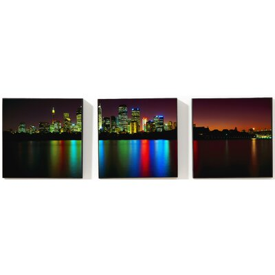 "Graham & Brown City Reflections  Printed Box Art Canvas - 8"" X 24"" (Set of 3)"