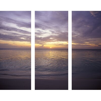 "Graham & Brown Sunset At Sea  Printed Canvas Art - 40"" X 48"" (Set of 3)"