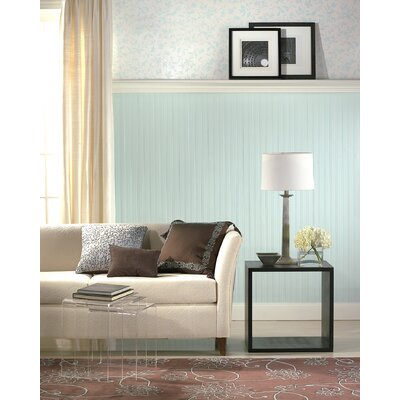 Graham & Brown Paintable Prepasted Paintable Beadboard Wallpaper in White