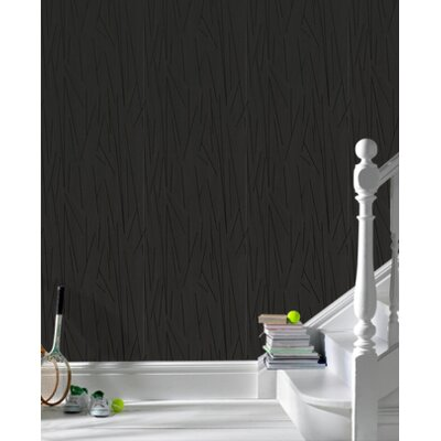 Graham & Brown Shape and Form Empire Wallpaper in Black