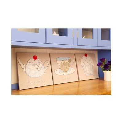 Graham & Brown Luxury Tea Set Canvas (set of 3)
