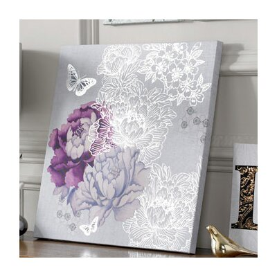 Graham & Brown Floral Metallic Canvas Wall Art