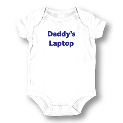 Attitude Aprons by L.A. Imprints Daddy's Laptop Baby Romper